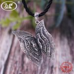 WK 925 Sterling <b>Silver</b> Large Big Butterfly <b>Necklace</b> Ethnic Filaments Woven Design Statement Pendants <b>Necklaces</b> Woman 20″ 4WNZ085