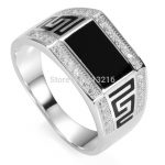 Eulonvan black ring men 925 sterling Silver ring white Cubic Zirconia and Black Resin <b>jewelry</b> SS–3778 sz#7 8 9 10 11 luxurious