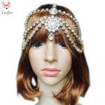 LiuJee KD085 <b>Handmade</b> Kundan Head Chain Hair <b>Jewelry</b> Matha Patti Prom Wedding Tikka Bridal Headdress Bohemian Goddess Boho Glam