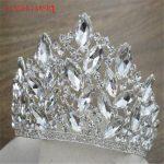 XIAONIANSHI Brand High-grade Big Crystal Tiara Big Crown Woman Hair <b>Jewelry</b> Rhinestones <b>Wedding</b> Crown Hairwear Bride Accessories