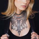 5 colors Indian vintage ethnic <b>antique</b> metal rhinestones choker bib necklaces statement & pendant Collar chain Fashion <b>Jewelry</b>