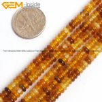 Natural Rondelle Spacer Original Agates Carnelian Stone Beads For <b>Jewelry</b> <b>Making</b> Necklace Sets 15inches DIY Jewellery Gem-inside