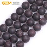 4mm-12mm Round Frosted Matt <b>Antiqued</b> Red Garnets Natural Stone Beads Strand 15 Inches For <b>Jewelry</b> Making Bracelet Necklace DIY