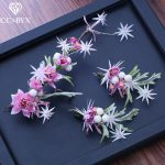 CC earrings for women hairbands 2pcs sets forest style <b>wedding</b> accessories bride engagement <b>jewelry</b> flower leaf shape diy XY225