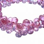 60pcs baby pink red Cubic Zirconia Beads, <b>Jewelry</b> Craft <b>Supplies</b> diamond teardrop drop faceted CZ Bracelet 5-9mm