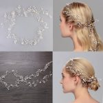 Jonnafe Fashion Extra Long Hair Vine Bridal Headband Pearls Wedding Hair <b>Jewelry</b> Accessories Headwear Women <b>Handmade</b> Headbands