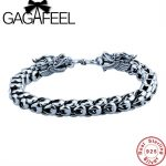 GAGAFEEL Genuine 100% Real Pure 925 Sterling <b>Silver</b> Thick Men <b>Bracelet</b> Dragon Scale <b>Bracelet</b> Bangle Free Shipping Fine Jewelry