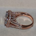 Luxury 192 pcs Tiny AAA CZ Women Fashion <b>Jewelry</b> Princess 925 Silver Simulated stones Rose gold <b>Wedding</b> band Ring Gift Size5-11
