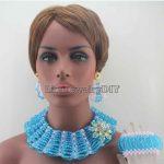 Chunky New Sky Blue/Pink Big Bold <b>Handmade</b> <b>Jewelry</b> Sets Crystal Pendant Necklace Set for Nigerian Wedding Free Shipping HD8435