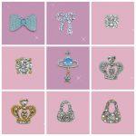 9 designs 50pcs mixed batch Nail art costume <b>jewellery</b> <b>decoration</b> 3d Rhinestone studs Faux Crystal tips nails DIY serials