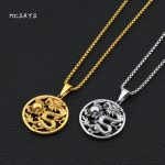 MCSAYS Hip Hop <b>Jewelry</b> Circled Dragon and Ball Pendant Stainless Steel 27 inch Chain Loong Necklace Mens Fashion <b>Accessories</b> 4HP