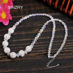 SINZRY <b>jewelry</b> synthetic crystal <b>handmade</b> chokers necklaces luxury 925 sterling silver glass crysal ball bridal <b>jewelry</b>
