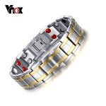 Vnox Stainless Steel Healthy Magnet Bracelet Men <b>Jewelry</b> Bio Energy Magnetotherapy Father's day Gift