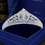 Full Cubic Zircon Tiara Paved CZ Crown Tiaras Diadema <b>Wedding</b> Hair Accessories Bride Hair <b>Jewelry</b> Bijoux Cheveux Coroa WIGO1067