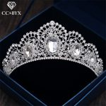 CC Tiaras Crowns Luxury Pageant Shine Rhinestone Baroque style <b>Wedding</b> Hair Accessories For Bride Engagement <b>Jewelry</b> Gifts XY034