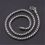 4.5mm Wide 100% Pure 925 Sterling <b>Silver</b> Round Chains <b>Necklaces</b> for Men Women Sterling <b>Silver</b> <b>Necklace</b> Accessories 18-24 inch