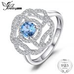 JewelryPalace High Quality 1 ct Natural London Blue Topaz Flower Ring 100 925 Sterling <b>Silver</b> Rings For Women Party Fine <b>Jewelry</b>