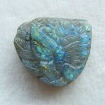 <b>Fashion</b>,Carved Labradorite,Flower And Butterfly Gemstone pendant bead Cabochons,41x38x11mm,22.6g