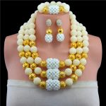 <b>Fashion</b> 2017 Women Necklaces Yellow African Beads <b>Jewelry</b> Sets Nigerian Wedding Bridal Indian Beads <b>Jewelry</b> Sets Crystal Beads
