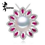 MINTHA 925 sterling <b>silver</b> pendants natural Pearl <b>necklace</b> , Ruby beryl jewelry charm party <b>necklace</b> women pendant for lovers
