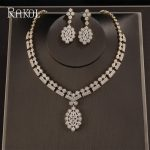 RAKOL Luxury Micro Paved Cubic Zirconia Dubai <b>Jewelry</b> Set for Big Gold Color Flower Bridal Party Dress