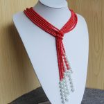 New 4-5mm Natural Pink Corel&Shell Pearl Necklace Women Girls Gift Beads Round Stone 3pcs <b>Jewelry</b> <b>Making</b> Design 15inch Wholesale