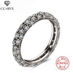 Vintage Style White Gold Color Real 925 Sterling Silver <b>Jewelry</b> Rings For Women Crystal Fashion <b>Jewelry</b> Party <b>Accessories</b> Gift