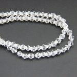 Free Shipping 4mm Bicone Crystal Beads Clear Color Charm Glass Beads Loose Spacer Bead For DIY <b>Jewelry</b> <b>Making</b>