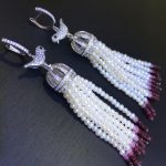 long tassels drop earring 925 <b>sterling</b> <b>silver</b> wtih natural fresh water pearl and cubic zircon trendy fashion women <b>jewelry</b> bird