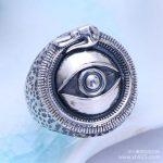925 Sterling <b>Silver</b> Vintage <b>Silver</b> creative personality eye of God Mens Ring <b>Jewelry</b> <b>jewelry</b> free shipping