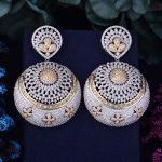 GODKI 63mm Exaggerate Luxury Big SizeFull Micro Cubic Zirconia Naija <b>Wedding</b> Party Earring Fashion <b>Jewelry</b> for Women