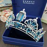 MANWII European high-grade AAA zircons and hoop section crown bride <b>wedding</b> dress <b>jewelry</b> hair accessoriew HD2026