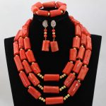 Charms Big Coral African <b>Jewelry</b> Sets Nigerian Wedding African Beads <b>Jewelry</b> Set for Brides New Free Shipping CNR559