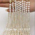 new 2015 Fashion Style diy wholesale 10 Strands 7-8MM Akoya Cultured Pearl Necklace 17.5″ beads <b>jewelry</b> <b>making</b> YE2067