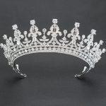 Real Austrian Crystals Rhinestone <b>Wedding</b> Bridal 2/3 Round Tiara Crown Hair Accessories <b>Jewelry</b> 05365L