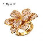 2018 luxury leaf ring Freeshipping large flower Fashion <b>Jewelry</b> for Women aneis feminino jewellery Ladies Band big trendy rings
