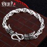 Beier 925 sterling <b>silver</b> <b>bracelet</b> high quality link chain domineering dragon man <b>bracelet</b> hand chain SCTYL0027