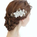 Write Flower Bridal Hair Comb Wedding Hair Accessories Fashion <b>Handmade</b> Bridal Headpiece Girl's <b>Jewelry</b> Party Hair Ornament