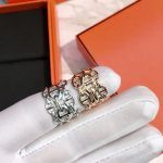 Hot Brand Pure 925 Sterling Silver <b>Jewelry</b> For Women Men Letter Round H Lock <b>Jewelry</b> Silver Ring France Quality