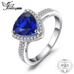 JewelryPalace Triangle 2.74ct Created Blue Sapphire Ring 925 Sterling <b>Silver</b> Fine <b>Jewelry</b> Classic Hot Rings For Women Gift