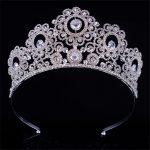 do dower New Big European Bride Wedding Gold <b>Silver</b> Color Crown Austrian Crystal Large Queen Crown Wedding Hair <b>Jewelry</b> FN-GB056