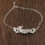 925 Solid Sliver Custom Name Ankle <b>Bracelets</b> for women Foot Jewelry Personalized Heart Shape Name Anklets <b>Bracelet</b> on a Leg