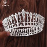 CC <b>Wedding</b> <b>Jewelry</b> Tiaras And Crowns Engagement Hair Accessories For Bridal Queen Round Hollow Rhinestone Shine CZ Stone HG694