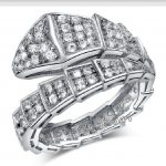 choucong Snake Style Women <b>Jewelry</b> 100pcs 5A Zircon Cz 10KT White Gold Filled Women Engagement <b>Wedding</b> Ring Sz 5-11 Gift