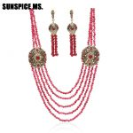 New Arrivals African Beads <b>Jewelry</b> Nigerian Red Wedding Engagement Necklace For Women <b>Handmade</b> Stone Necklaces Indian <b>Jewelry</b>
