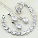Crown 925 Sterling Silver <b>Jewelry</b> White Australian Crystal <b>Jewelry</b> Sets For Women Party Bracelets/<b>Necklace</b>/Pendant/Earrings/Ring