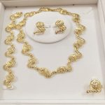 KINGDOM MA Golden <b>Jewelry</b> Sets For Women African Beads Dubai Party Round Wedding Bridal Luxury Plant Maxi Necklace <b>Accessories</b>