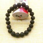 Brand New Lava Rock Beads Fashion Round Black Selectable Natural black Stone Beads For <b>Jewelry</b> <b>Making</b> Diy Bracelet Free Shipping