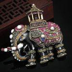Blucome Big Size Thailand Elephant Pearl Brooch For Men <b>Jewelry</b> Party Gifts Brand Enamel Brooches Bijuteriras Hijab <b>Accessories</b>