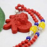 Cinnabar Red leaves/Lucky Necklace For Women Female Necklace Lover`s Gift Beads Necklace Sweater Chain Fashion <b>Jewelry</b> <b>Making</b>